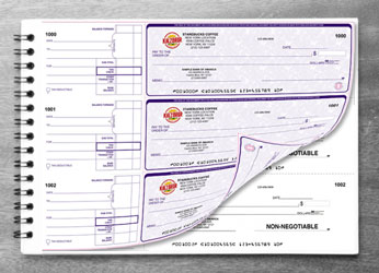 High Security Duplicate Manual Check Printing with Full Color Logo