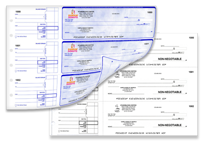 Manual Duplicate Checks Customized for your business with Full Color Logo
