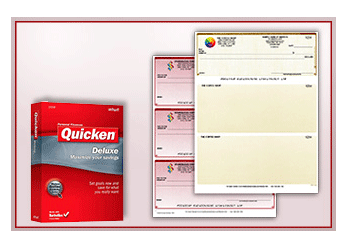 Quicken Checks business checks with logo