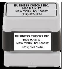 Custom Stamp Business Checks for